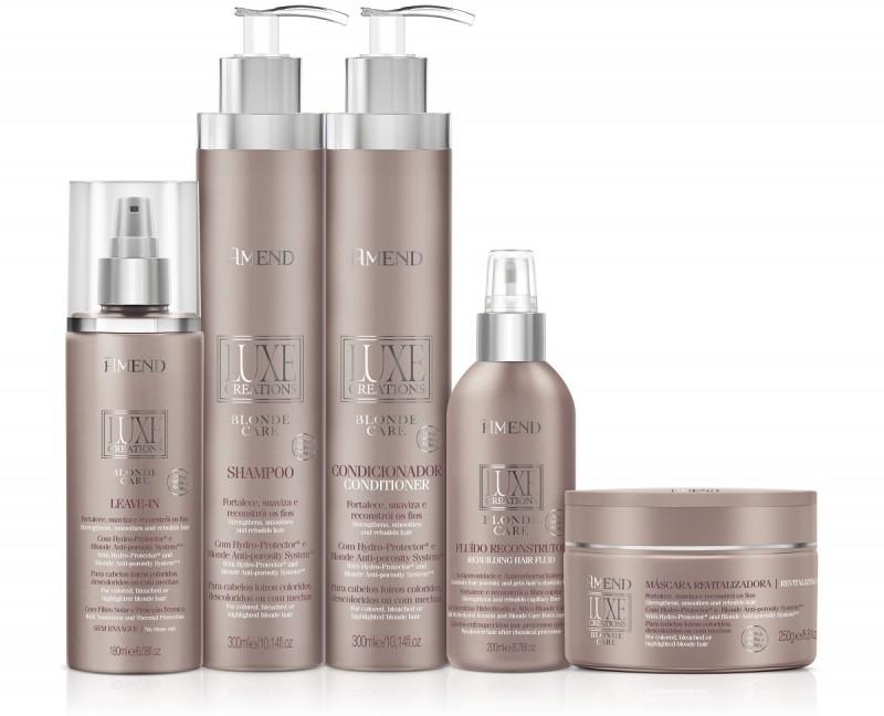 Amend apresenta linha Luxe Creations para tratamento de cabelos loiros