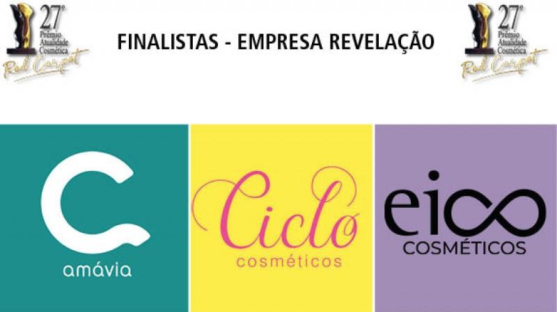 As empresas indicadas para concorrer ao Troféu Atualidade Cosmética/Patrus de Empresa Revelação