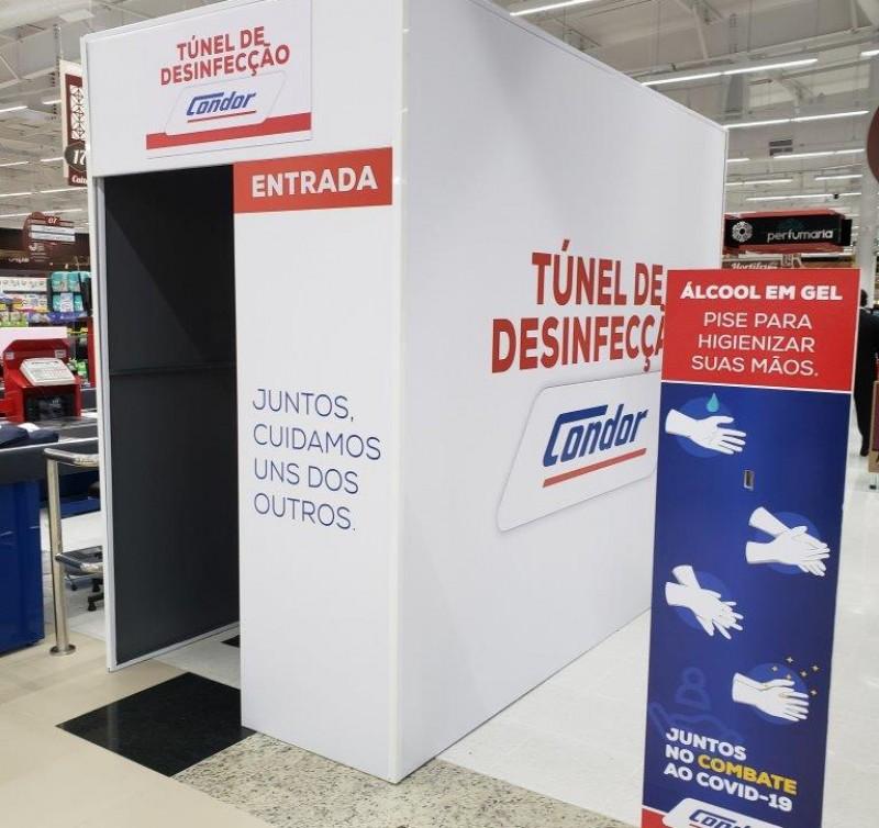 Condor inaugura cabine de desinfecção na sua nova loja em Joinville