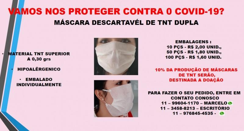 Corel Embalagens e Acessórios desenvolve máscaras de proteção facial