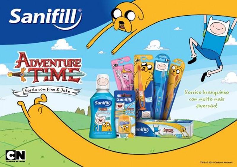 Em parceria com o desenho Hora de Aventura, Sanifill apresenta Linha Kids