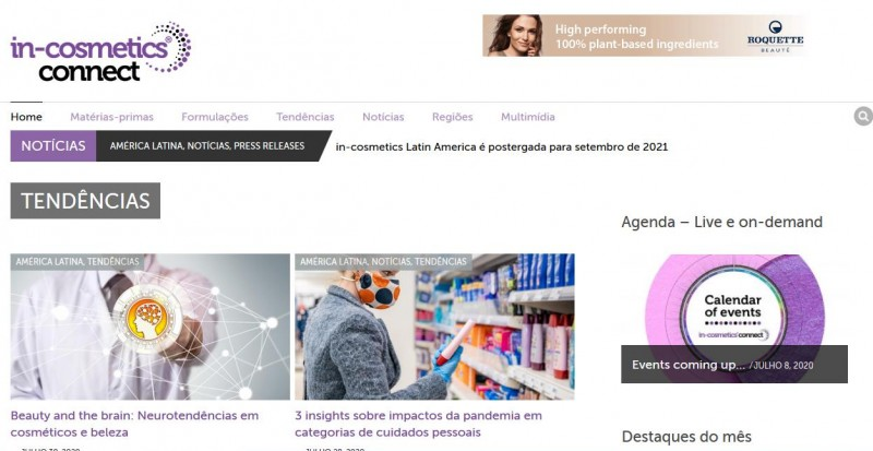 in-cosmetics lança nova plataforma e vai promover evento virtual