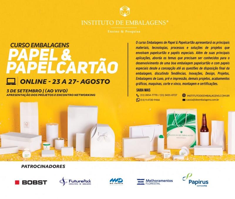 Instituto de Embalagens abre inscrições para Curso online de Embalagens de Papel e Papelcartão