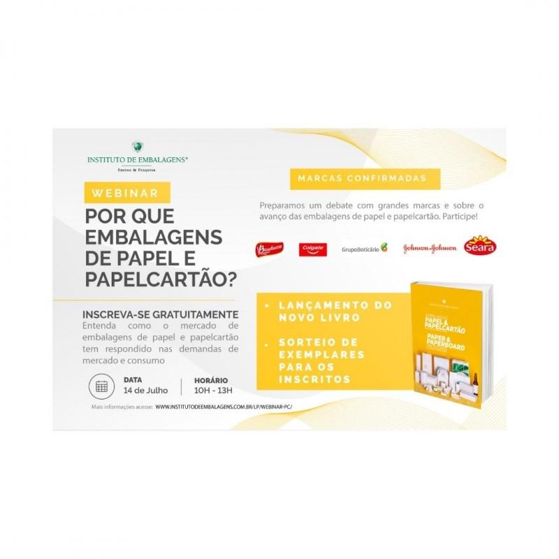 Instituto de Embalagens realiza Webinar! Por que Embalagens de Papel e Papelcartão?