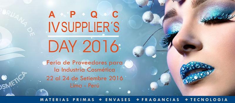 IV SUPPLIER´S DAY 2016: 22 a 24 Setembro / Lima - Peru