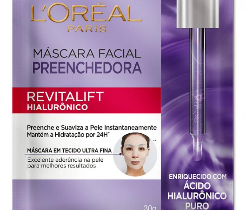 L'Oreál amplia linha Revitalift Hialurônico com máscara facial