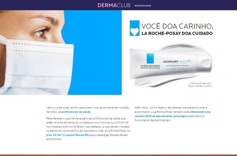 La Roche-Posay doará Cicaplast para profissionais de saúde