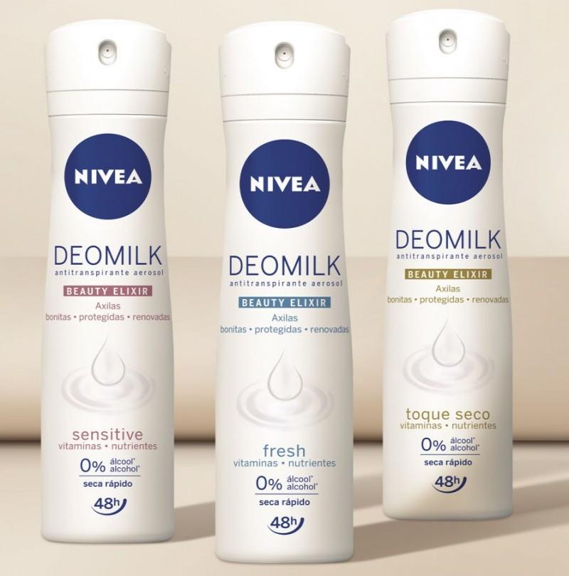 NIVEA lança linha de desodorantes Deomilk Beauty Elixir