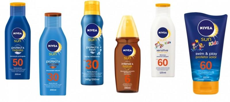 NIVEA SUN ganha novo design de embalagens