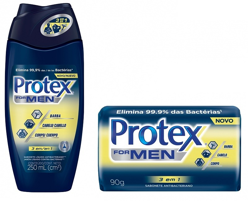 Novo sabonete Protex for Men 3 em 1