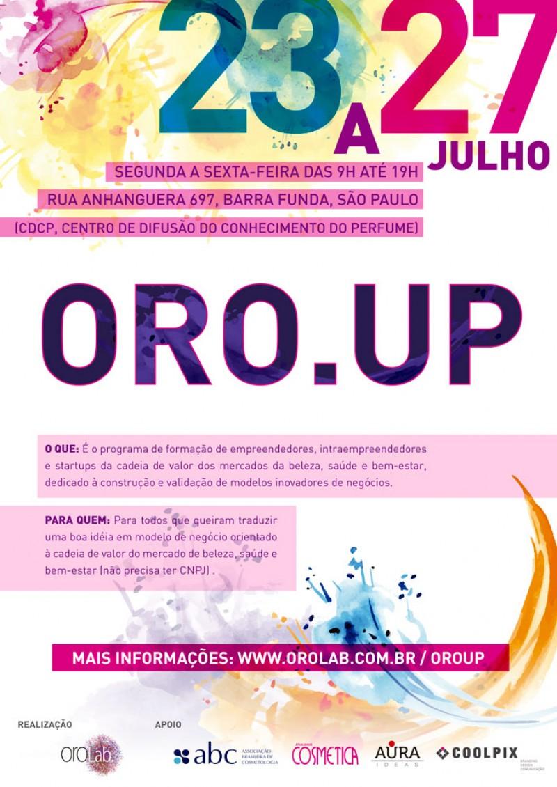 ORO.UP - Programa de formação de startups dos mercados da beleza, saúde e bem-estar