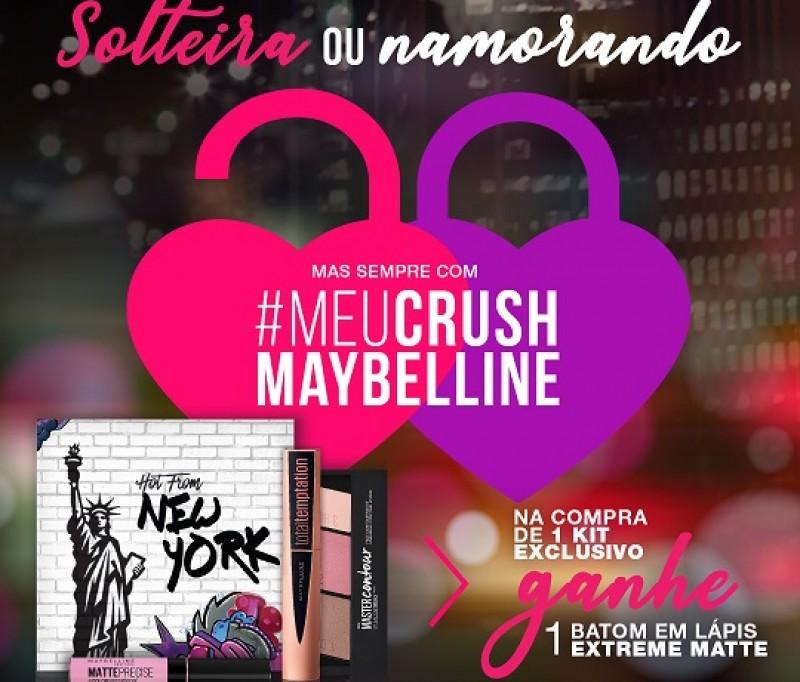 Por dia dos namorados, Maybelline incentiva a comemoração de casais e solteiras com kits exclusivos para venda em seus quiosques
