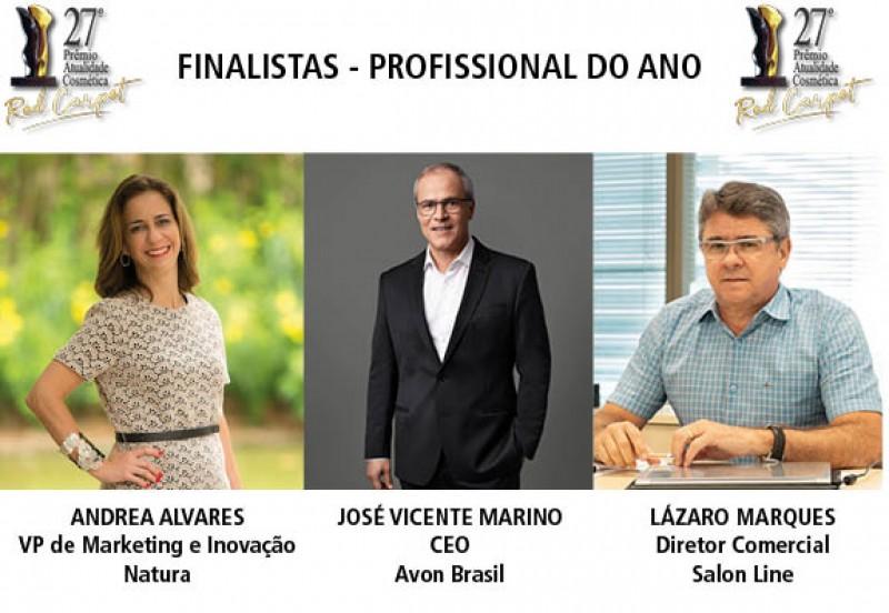 Prêmio Atualidade Cosmética divulga os finalistas da categoria Profissional do Ano