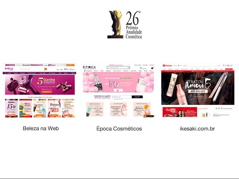 Saiba quais os varejistas digitais finalistas do Prêmio Atualidade Cosmética